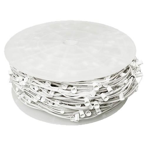 Bulk LED white C9 Christmas light bulk spool stringer, blank sockets ...