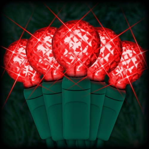 led red christmas lights 50 g12 mini globe led bulbs 4 spacing 17ft green wire 120vac