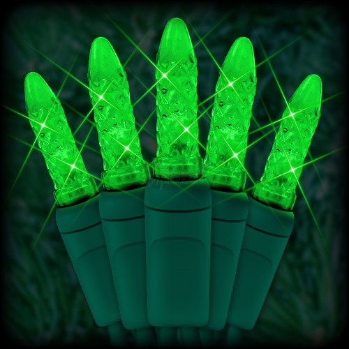 led green christmas lights 50 m5 mini led bulbs 25 spacing 12ft green wire 120vac