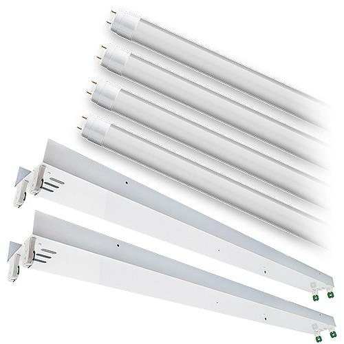 Bulk LED T12 8ft. FROSTED shatterproof glass lens 5000K 4 lamp ...