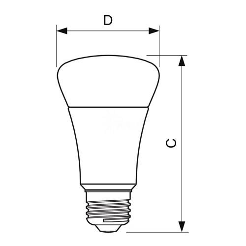 bulk philips 423483 led a21 8watt 2700k a shape light bulb dimmable
