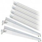 Bulk LED T12 8ft. CLEAR glass lens 5000K 4 lamp complete retrofit tube kit Cool Bright White light