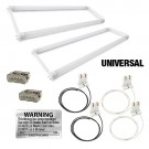 LED T8 Universal U-bend FROSTED lens 2 lamp complete retrofit kit 5000K Cool White light