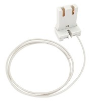 LED T8 1-1600SW T8 T12 U-Bend Shunted Socket White Wire Kit