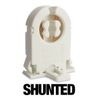 SHUNTED short Bi-Pin rotary lock snap in tombstone socket with Nib for T12 or T8 lights 20 gauge metal