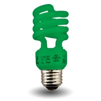 Bulk Green-Mini Spiral Compact Fluorescent - CFL - 13 watt