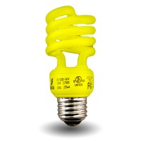 Bulk Yellow-Mini Spiral Compact Fluorescent - CFL - 13 watt