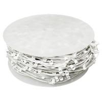 """LED white C7 Christmas light bulk spool stringer, blank sockets, 12"""" spacing, 1000ft, AWG18, SPT-1 rated, 120VAC"""