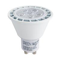 Green Watt LED 7watt GU10 MR16 5000K 25° narrow flood light bulb dimmable G-L6-MR16GU10D-7W-50K-25