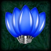 LED blue C7 Christmas bulbs smooth, replacement, spare, 25 pack, 120VAC