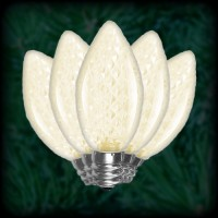 LED warm white C7 Christmas bulbs faceted, replacement, spare, 25 pack, 120VAC