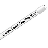 EZ LED T8 Double End Type B CLEAR glass lens retrofit tube, 18watt, 4000K Natural White Color