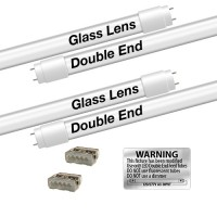 Bulk EZ LED T8 FROSTED glass retrofit kit fits 2 tube 4-foot light, Type-B, Double End 5000K Cool White Color