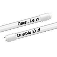 EZ LED T8 Double End Type B FROST glass lens retrofit tube, 18watt, 4000K Natural White Color