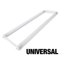 LED T8 Universal U-bend tube 15watt FROSTED lens 4000K natural white light Type A+B 2ft