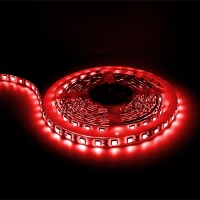 Red LED tape light 16ft 24volt DC SMD 5050 IP44 rated dimmable