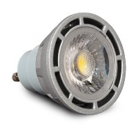 Architectural Grade LED MR16 GU10 Light Bulb Narrow Flood 3000K Smart Dim Silver SunLight2