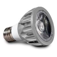 Architectural Grade LED PAR20 Light Bulb Narrow Flood 3000K Smart Dim Superior Color Rendering Silver SunLight2