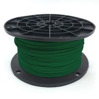 LED green Christmas light blank wire bulk spool 250ft, 2-wire AWG18, SPT-1 rated, 120VAC