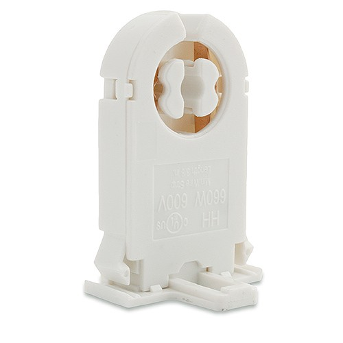 Fluorescent Tall Non Shunted Rotary Lock Medium Bi Pin Snap In Socket For T8 Led Lamps
