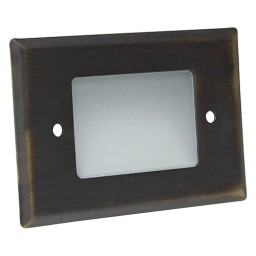 Outdoor landscape lighting LED bronze half brick step light 7110 series, cool white, low voltage 12volt