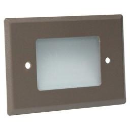 Outdoor landscape lighting LED bronze half brick step light 7110 series, natural white 4000K, low voltage 12volt