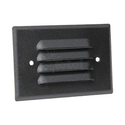 Outdoor LED landscape lighting black half brick louver step light 7112 series, natural white 4000K, low voltage 12volt