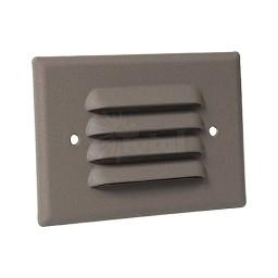 Outdoor LED landscape lighting bronze half brick louver step light 7112 series, cool white, low voltage 12volt