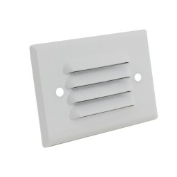 Outdoor LED landscape lighting white half brick louver step light 7112 series, cool white, low voltage 12volt