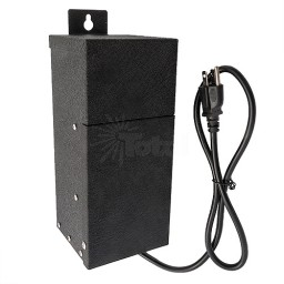 EMCOD LED EPC100W 100watt 12/15volt AC landscape outdoor transformer with mechanical timer & photo eye