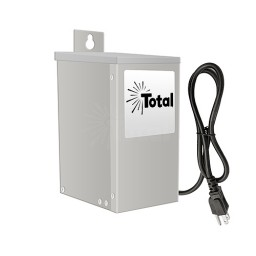 LED EMCOD ESL40W 40watt 12/15volt AC landscape outdoor transformer stainless steel with mechanical timer & photo eye