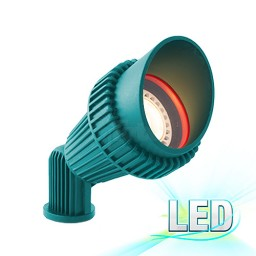 LED green landscape lighting non-corrosive composite hooded spot light low voltage warm white