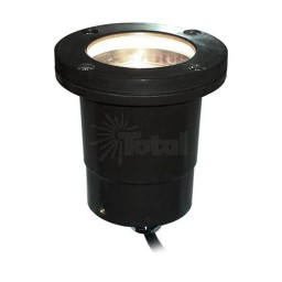 OutdoorLED landscape lighting black fiberglass well light with moisture resistant wire connectors