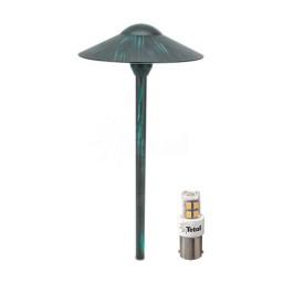 VERDE GREEN outdoor landscape lighting LED hat path light warm white