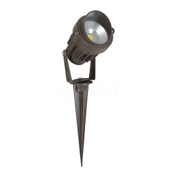 LED Outdoor landscape lighting bronze spot light, 6watt, cool white, Low Voltage, Aluminum