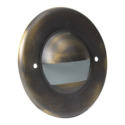 Outdoor led landscape lighting round architectural bronze half brick outdoor led landscape lighting round architectural bronze half brick step light 7121 series cool white low voltage 12volt workwithnaturefo