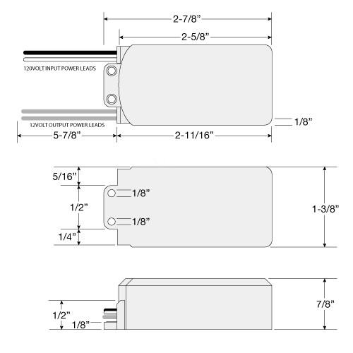 led hd60 120 60watt 12vac electronic encapsulated transformer rh totalledmalibulighting com Single Phase Transformer Wiring Diagram Multi-Tap Transformer Wiring Diagram