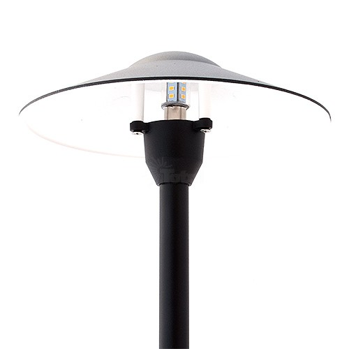 Led ls215 bk ww black landscape lighting hat path light warm white mozeypictures Image collections