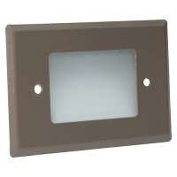 Outdoor landscape lighting LED bronze half brick step light 7110 series, cool white, low voltage 12volt