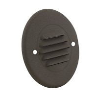 Outdoor LED landscape lighting round bronze half brick louver step light 7122 series, cool white, low voltage 12volt