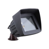 OUR MOST POPULAR LED black landscape lighting hooded flood light low voltage warm white