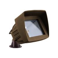 LED bronze landscape lighting hooded flood light low voltage warm white