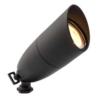 L1081-BK-6-WW LED black landscape lighting aluminum key bullet spot light low voltage warm white