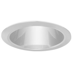"6"" Recessed lighting air tight clear chrome specular reflector chrome trim"