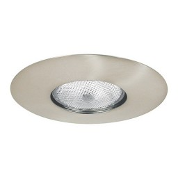 "6"" Recessed lighting Par 30 socket holder satin open trim"