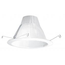 "6"" Recessed lighting air tight white baffle White trim"