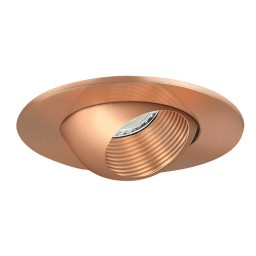 "3"" Low voltage recessed lighting copper baffle copper eyeball trim"