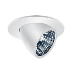 "3"" Low voltage recessed lighting fully adjustable white eyeball trim"