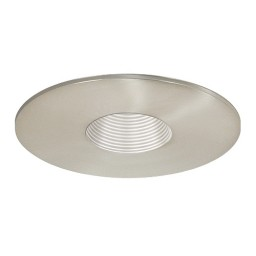 "3"" Low voltage recessed lighting satin baffle satin pinhole trim"