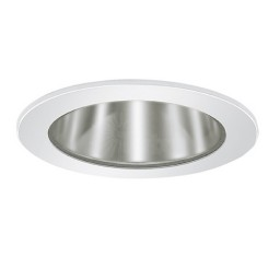 "3"" Low voltage recessed lighting clear chrome reflector white shower trim"